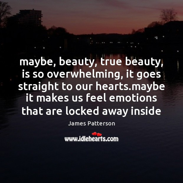 Maybe, beauty, true beauty, is so overwhelming, it goes straight to our Image