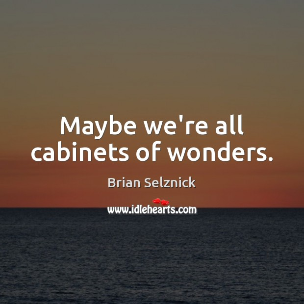 Image, Maybe we're all cabinets of wonders.