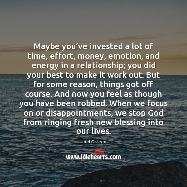 Maybe you've invested a lot of time, effort, money, emotion, and Image