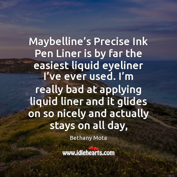 Image, Maybelline's Precise Ink Pen Liner is by far the easiest liquid