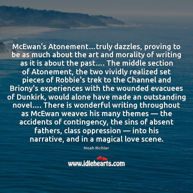 McEwan's Atonement…truly dazzles, proving to be as much about the art Image