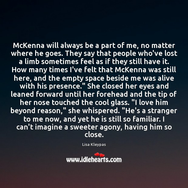 Image, McKenna will always be a part of me, no matter where he