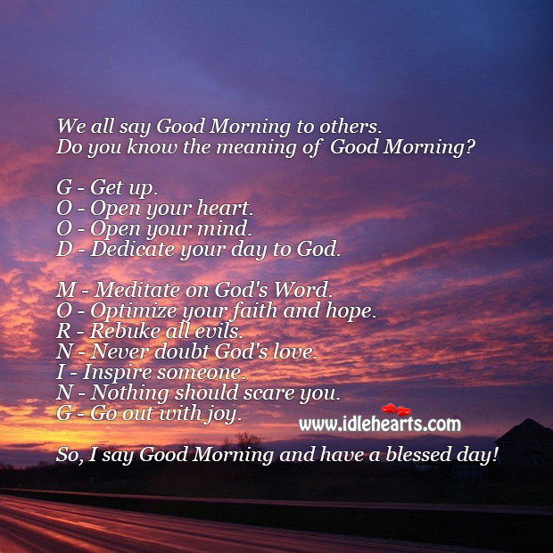 Full form of Good Morning. Good Morning Messages Image