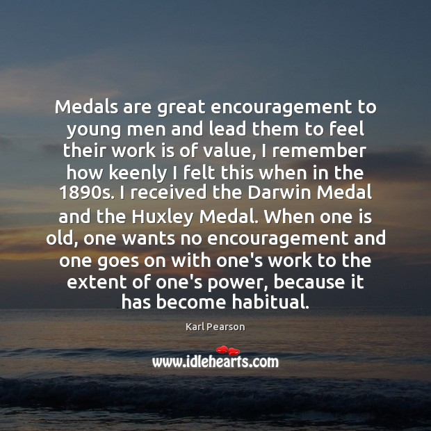 Image, Medals are great encouragement to young men and lead them to feel