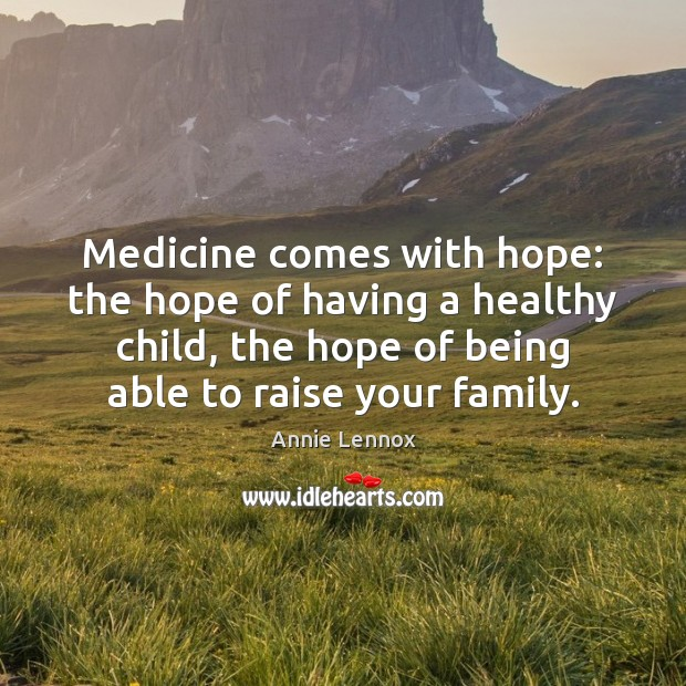 Medicine comes with hope: the hope of having a healthy child, the Image