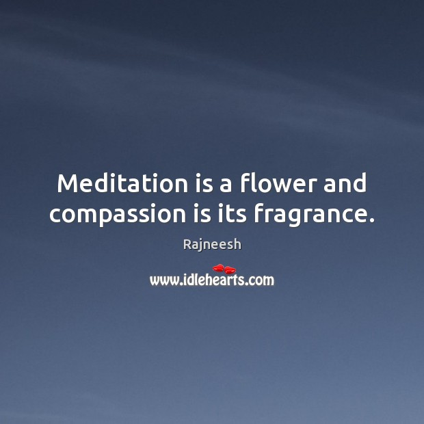 Meditation is a flower and compassion is its fragrance. Image