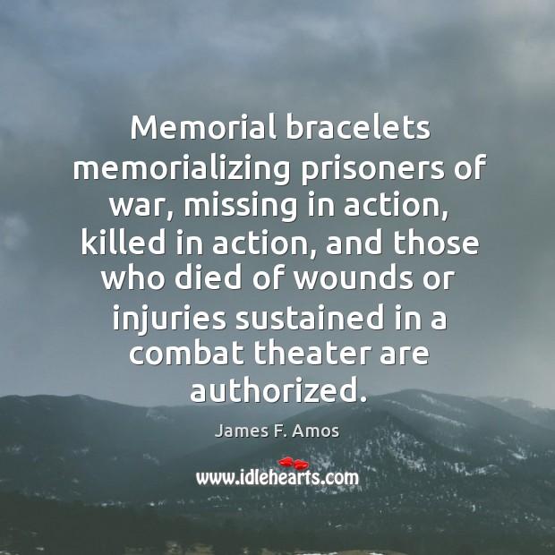 Memorial bracelets memorializing prisoners of war, missing in action, killed in action Image