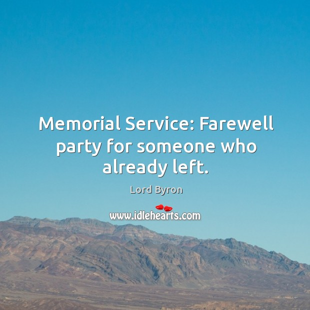 Memorial service: farewell party for someone who already left. Image