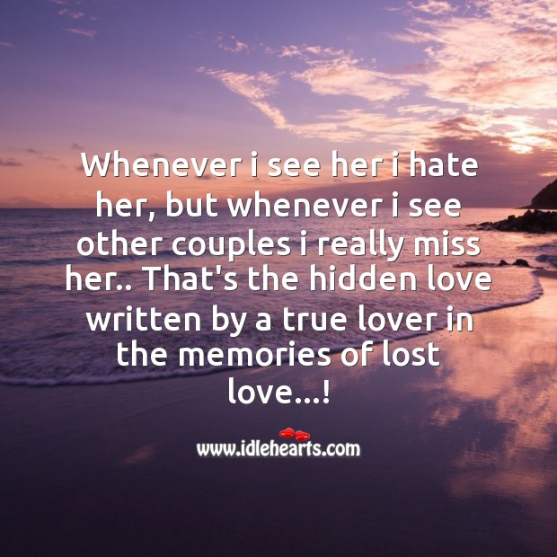 Missing Love Memories Images: I Send My Cares