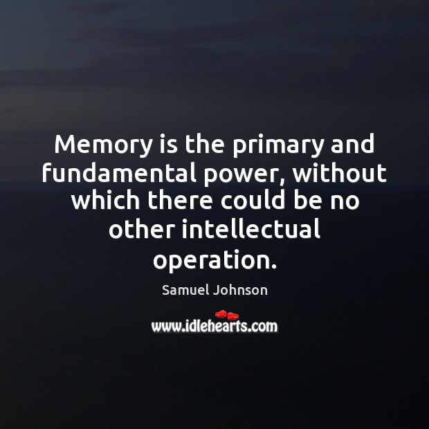 Image, Memory is the primary and fundamental power, without which there could be