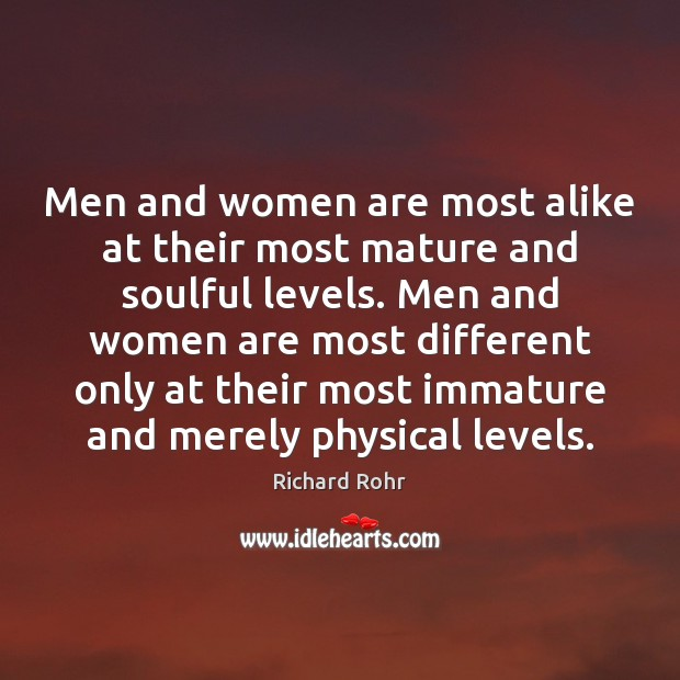Image, Men and women are most alike at their most mature and soulful
