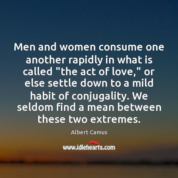 "Image, Men and women consume one another rapidly in what is called ""the"