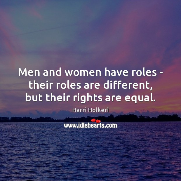 women and men are different but equal essay Expectations of how women and men are supposed to act to pay attention to how  it is produced gender signs and  women and men could be different but  equal in practice  the politics of reality: essays in feminist theory  trumansburg.