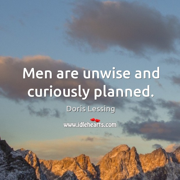 Image, Men are unwise and curiously planned.
