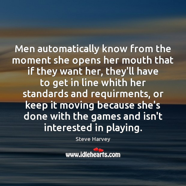 Men automatically know from the moment she opens her mouth that if Image