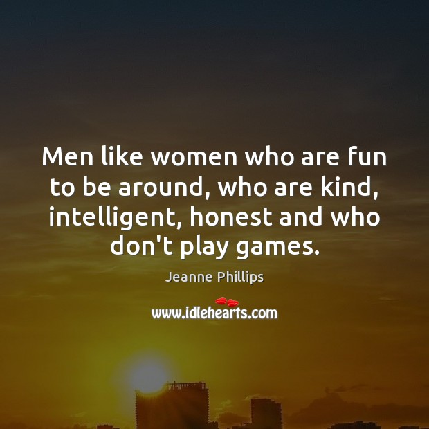 Men like women who are fun to be around, who are kind, Image