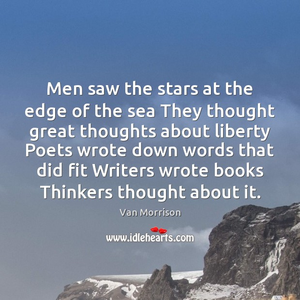 Image, Men saw the stars at the edge of the sea They thought