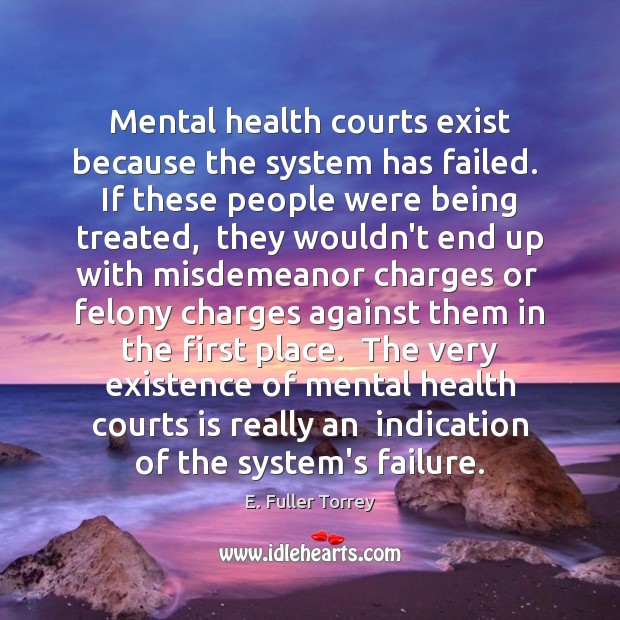 Mental health courts exist because the system has failed.  If these people Image