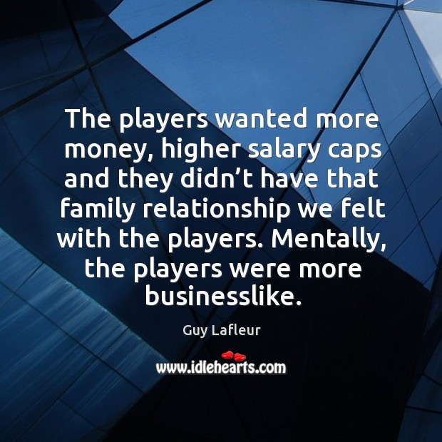 Image, Mentally, the players were more businesslike.