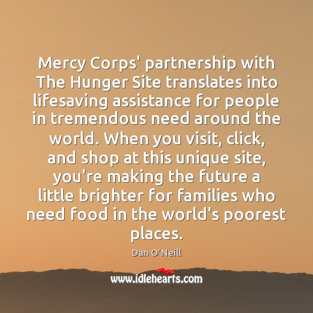 Mercy Corps' partnership with The Hunger Site translates into lifesaving assistance for Image