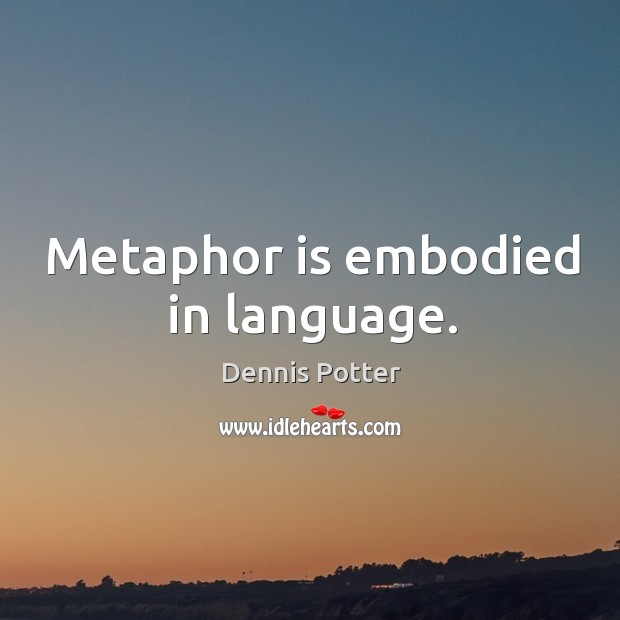 Metaphor is embodied in language. Image