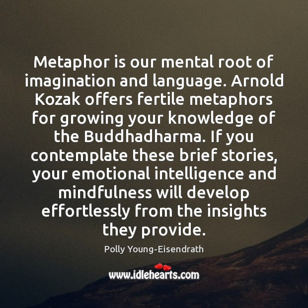Metaphor is our mental root of imagination and language. Arnold Kozak offers Image
