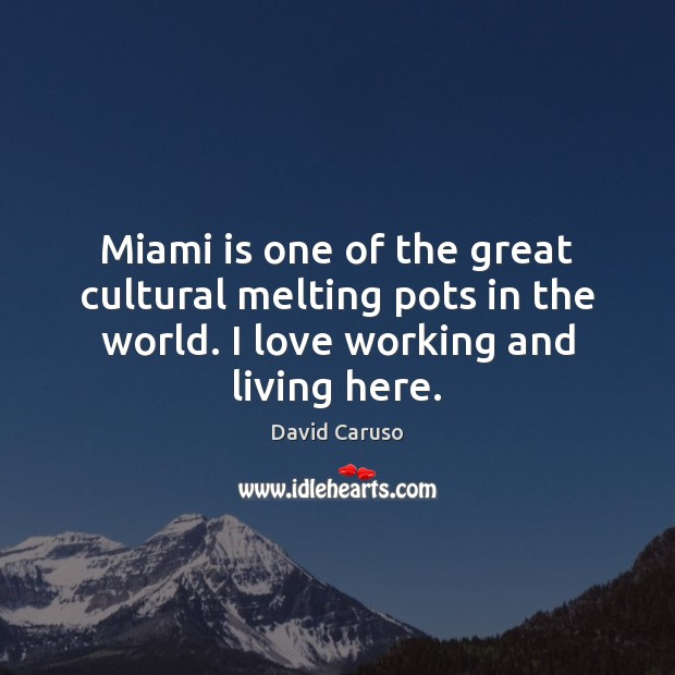 Miami is one of the great cultural melting pots in the world. Image