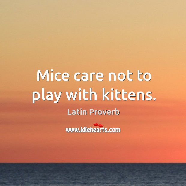 Image, Mice care not to play with kittens.