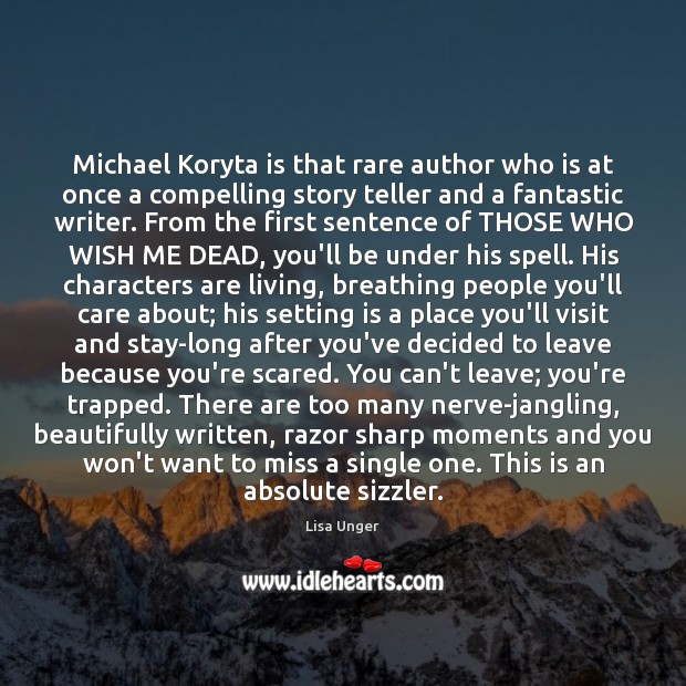 Michael Koryta is that rare author who is at once a compelling Image