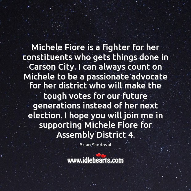 Michele Fiore is a fighter for her constituents who gets things done Image