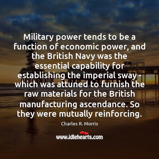 Military power tends to be a function of economic power, and the Image