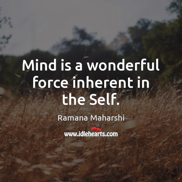 Mind is a wonderful force inherent in the Self. Image