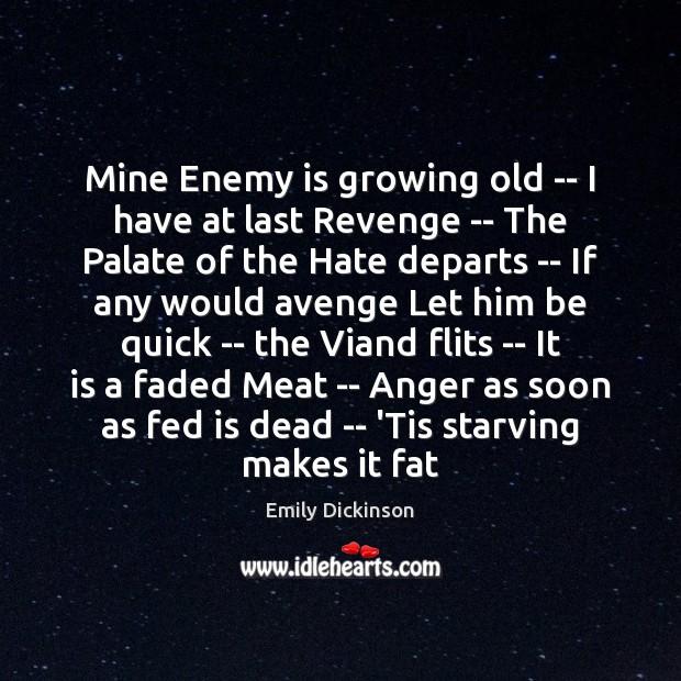 Image, Mine Enemy is growing old — I have at last Revenge —