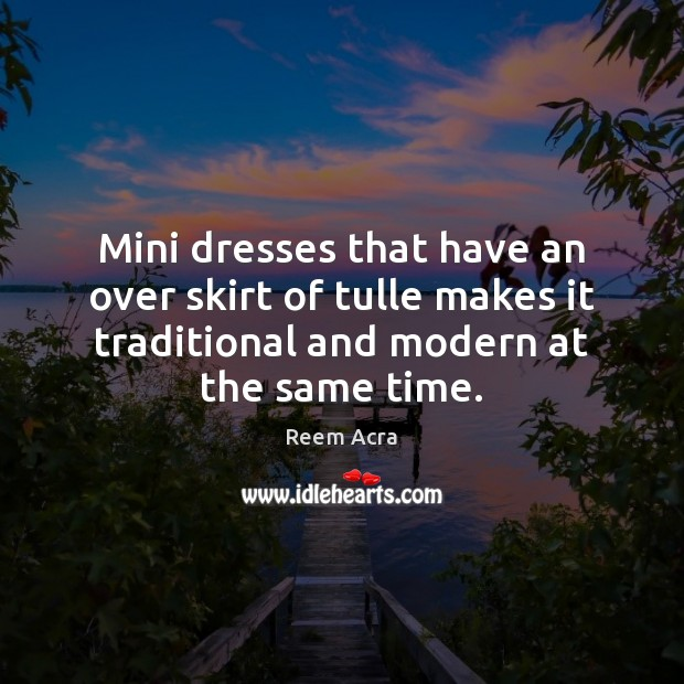 Mini dresses that have an over skirt of tulle makes it traditional Image