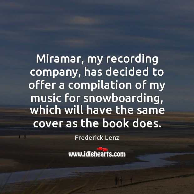 Miramar, my recording company, has decided to offer a compilation of my Image