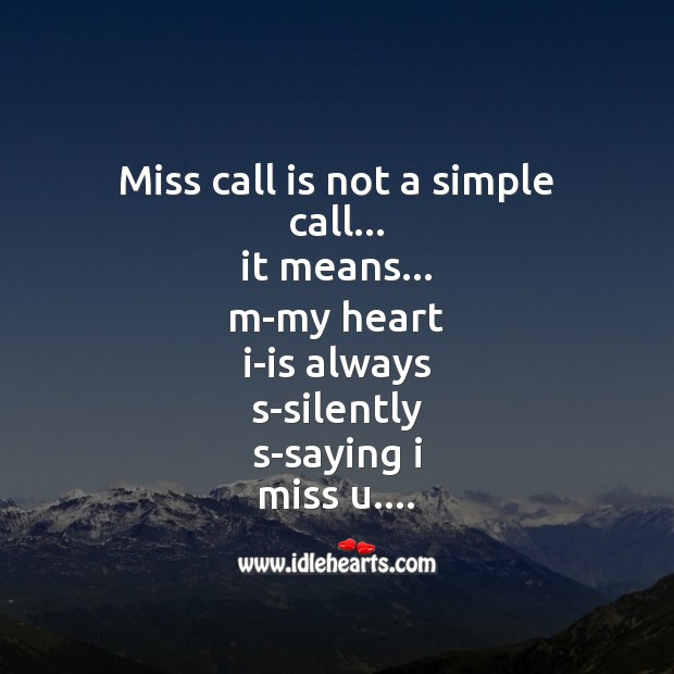Miss call is not a simple call Image