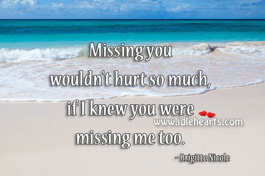 Missing You Wouldn't Hurt So Much