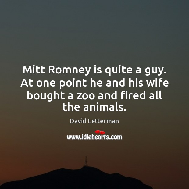 Mitt Romney is quite a guy. At one point he and his Image