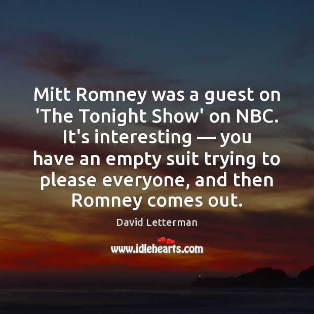 Image, Mitt Romney was a guest on 'The Tonight Show' on NBC. It's