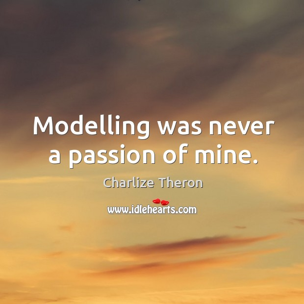 Modelling was never a passion of mine. Image