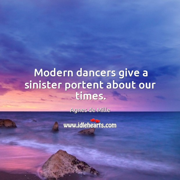 Image, Modern dancers give a sinister portent about our times.