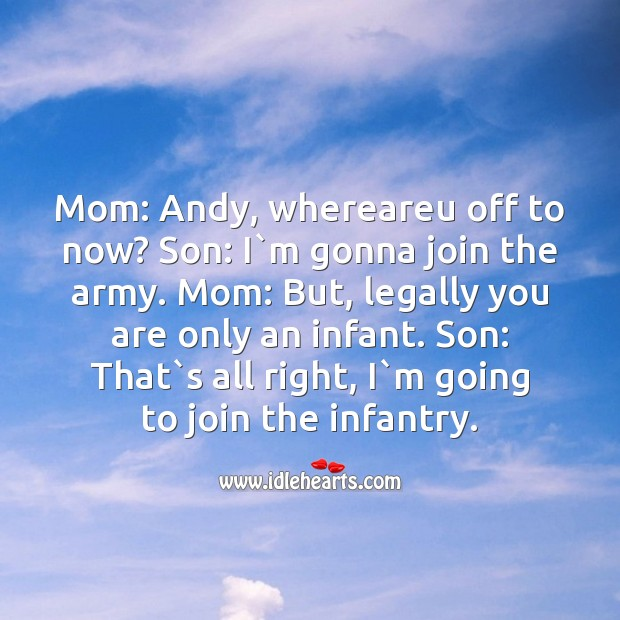 Mom: andy, whereareu off to now? Image