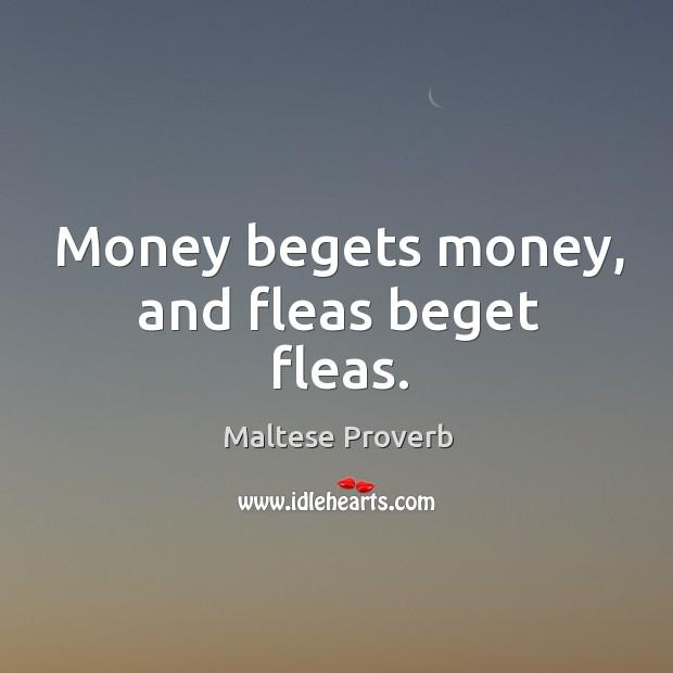 Money begets money, and fleas beget fleas. Maltese Proverbs Image