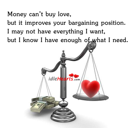 Image, Money can't buy love