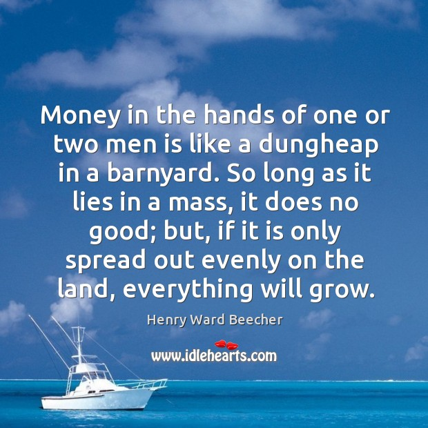 Image, Money in the hands of one or two men is like a
