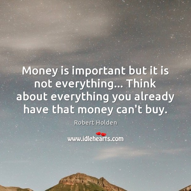 Money is not important in a relationship