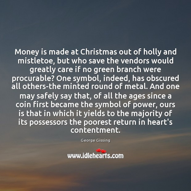 Money is made at Christmas out of holly and mistletoe, but who Image