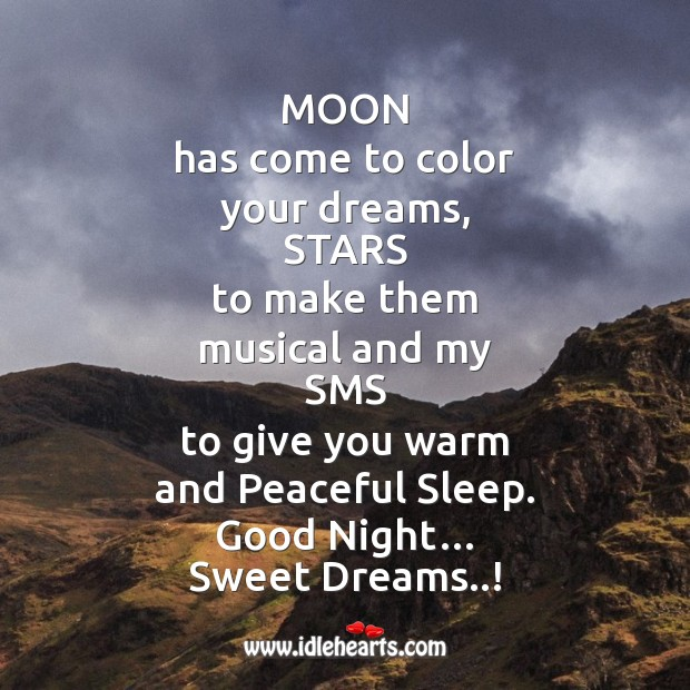 Image, Moon has come to color your dreams