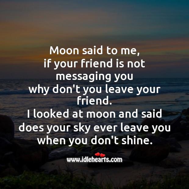 Image, Moon said to me