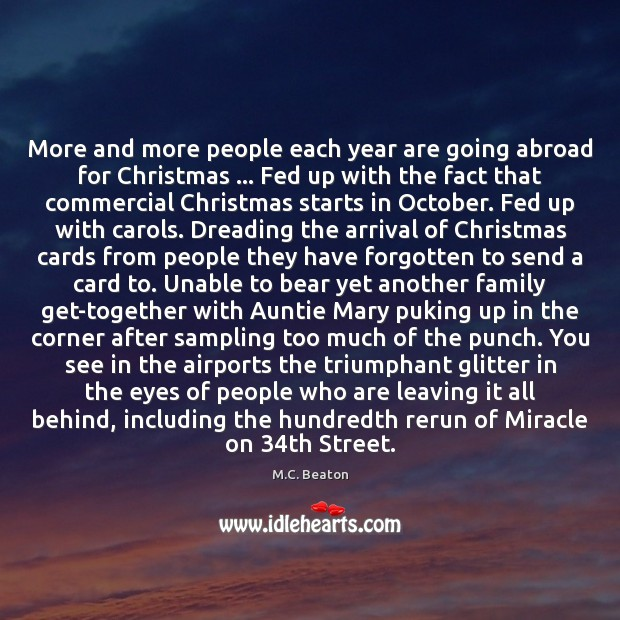 Image, More and more people each year are going abroad for Christmas … Fed
